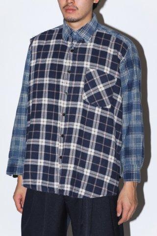 WEYEP / Double Docking Shirt FLANNEL -A