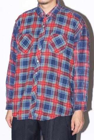 WEYEP / Double Docking Shirt FLANNEL -B