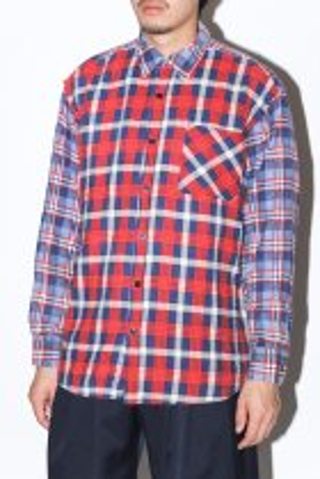 WEYEP / Double Docking Shirt FLANNEL -C