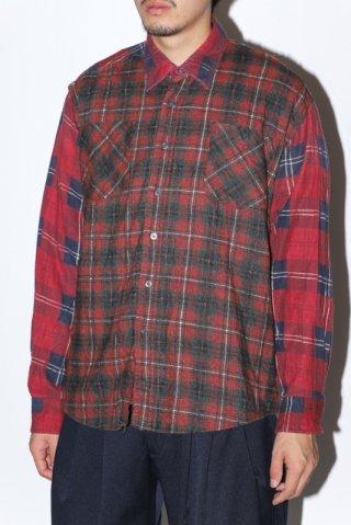 WEYEP / Double Docking Shirt FLANNEL -D
