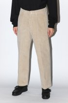 RICCARDO METHA / 1TUCK WIDE PANTS CORDUROY -beige