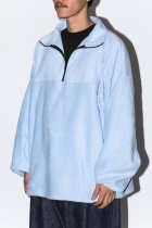 FLEECE HALF ZIP - light blue