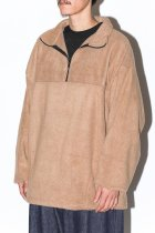 FLEECE HALF ZIP - khaki