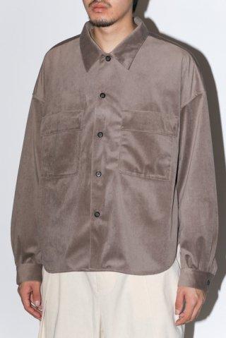 superNova. / CPO shirt jacket - Velour twill - Khaki