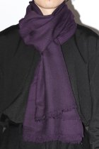 HHWT / Hand Woven Solid Stole - purple