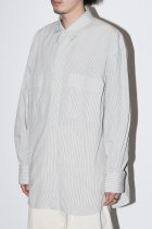Marvine Pontiak Shirt Makers / Fly Front 3 Button SH - Hickory ST