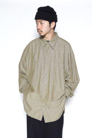 Marvine Pontiak Shirt Makers / Military SH - Chambray - khaki