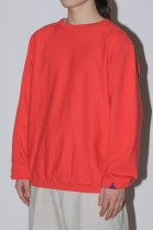 BAMBOO SHOOTS / R.W SWEATSHIRT GARMENT DYED - red