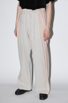 Monitaly / Wide Drop Crotch Pants - gunny sack stripe