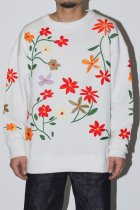 Niche. / Flowers EMB C/N Sweat - All Over C
