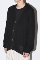 O project / KNITTED CARDIGAN - black