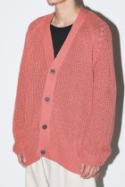 O project / KNITTED CARDIGAN - coral - LANTIKI exclusive