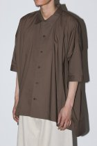 O project / SHORT SLEEVE SHIRTS - brown