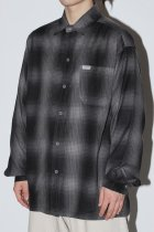 OMBRE CHECK L/S SHIRTS - black/chacoal