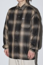OMBRE CHECK L/S SHIRTS - brown/khaki