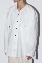 O project / V NECK OVER SHIRT - off white