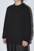 O project / KNITTED CREW NECK - black