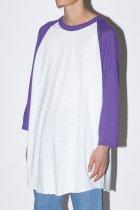 SOFFE / BASEBALL T SHIRT - purple