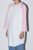 SOFFE / BASEBALL T SHIRT - soft pink