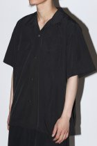 BURLAP OUTFITTER / S/S CAMP SHIRT SOLID -black-