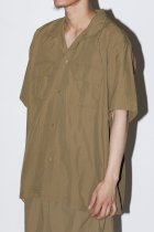 BURLAP OUTFITTER / S/S CAMP SHIRT SOLID -coyote-