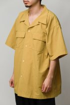 BURLAP OUTFITTER / S/S CAMP SHIRT SOLID -dark mustard-
