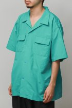 BURLAP OUTFITTER / S/S CAMP SHIRT SOLID -jade-