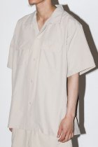 BURLAP OUTFITTER / S/S CAMP SHIRT SOLID -sand beige-