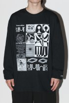 AWA by UKUU PROJECT / ''we are part of the Fungus'' bricolage L/S - black