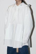NISH / HOODED SHIRTS - white