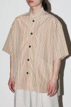 NEZU YOHIN TEN / 綿キュプラS/S shirt jacket - beige