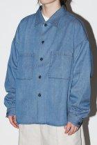 superNova. / BIG shirt Jacket 弐 9oz tencel denim - indigo