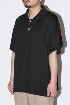 superNova. / Dolman knit polo - black