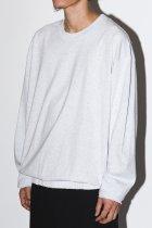 BAYSIDE / band long sleeve tee - ash