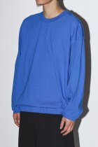 BAYSIDE / band long sleeve tee - blue