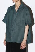 Gorsch / S/S italian collar shirt - green