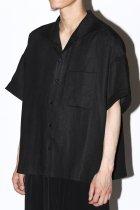 Gorsch / S/S italian collar shirt - black