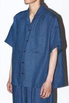Gorsch / S/S italian collar shirt - blue