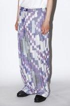 Badhiya / 1tuck slacks - ikat - A