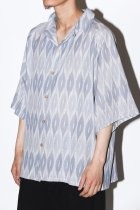 Badhiya / Open collar ss shirts - ikat - C