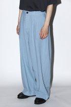 Badhiya / 1tuck slacks - twill - l.blue
