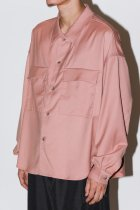 superNova. / CPO shirt jacket - gabardine - pink