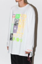 AWA by UKUU PROJECT / ''we are part of the Fungus'' bricolage L/S - white