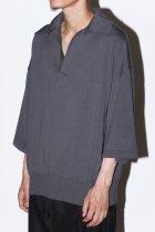 LOCALINA-MERIYASU- / knit skipper - dark gray