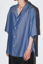superNova. / S/S Medical shirt-rayon chambray - navy