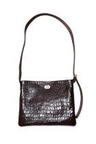 Hender Scheme / twist buckle bag crocodile S - choco
