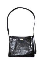 Hender Scheme / twist buckle bag crocodile S - black