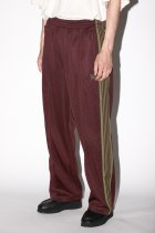 Needles / Track Pant - Poly Smooth - maroon