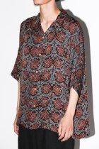 Badhiya / Open collar ss shirts -batik- D