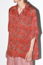 Badhiya / Open collar ss shirts -batik- J